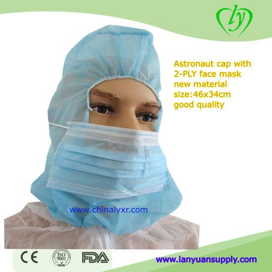 Polypropylene Hood with Elastic Closure and Mask