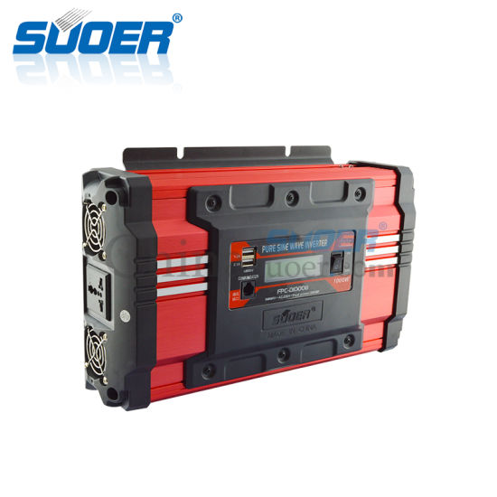 Suoer Power Inverter Price 1kw 24V Pure Sine Wave Inverter with LCD Display (FPC-D1000B) pictures & photos