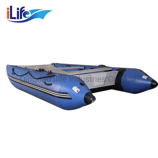 Ilife 2.7m-4.3m High Speed PVC/Hypalon Inflatable Catamaran Boat