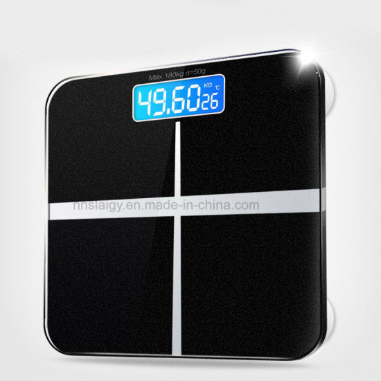 180KG Digital Electronic Tempered Glass Body Weight Weighing