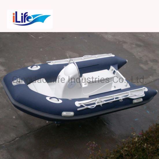Ilife (CE) 10.8FT 330cm 4 Persons China Rigid Fiberglass Hull Rib Fishing Boats Fiberglass Inflatable Boat for Sale!