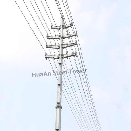 Single Tube Pole Electric Power Transmission Tower