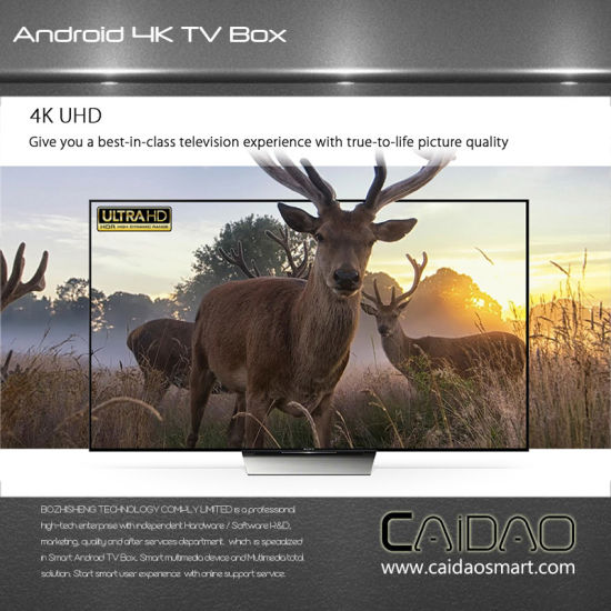 Newest 4k Caidao Cws546 Amlogic S912 2GB 16GB Android 7.0 TV Box Octa Core Kodi Fully Loaded Media Player pictures & photos