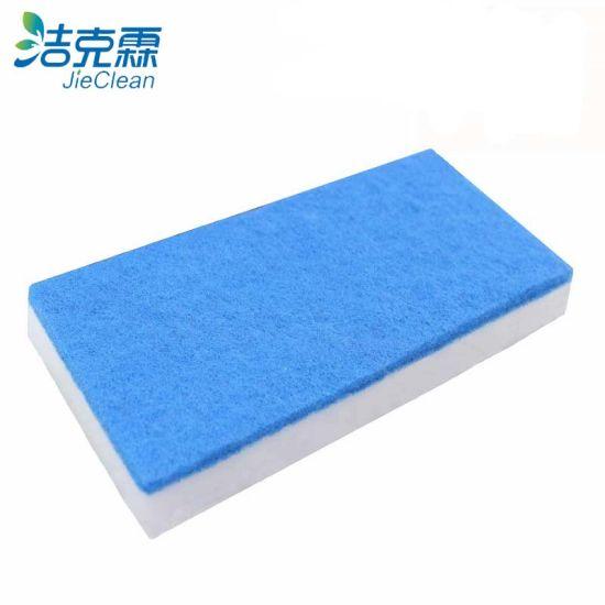 Blue Color Glued Melamine Sponge, Widely Use for Housework, Magic Melamine Sponge