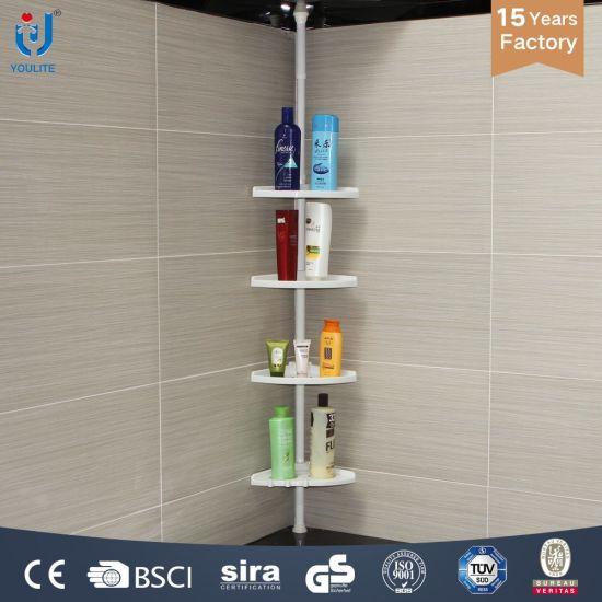 Extendable Plastic Bathroom Shelf Rack pictures & photos