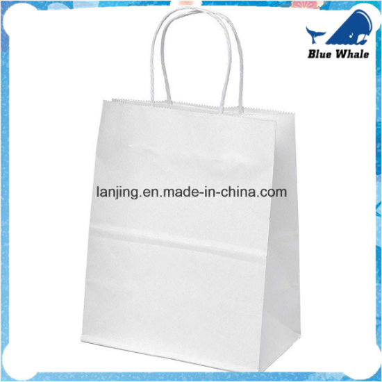 Bw207 Kraft Paper Gift Bag/White Kraft Promotional Bag Shopping Bag pictures & photos