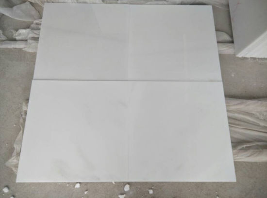 White Jade Marble Pure White Marble Slab pictures & photos