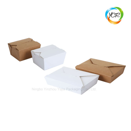 Disposable Kraft Paper Food Noodle Salad Sushi Takeaway Lunch Box pictures & photos
