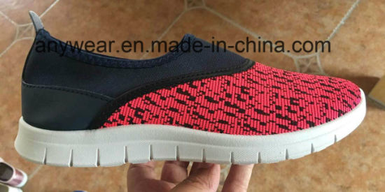 Comfort Slip on Footwear Men′s PU Injection Casual Sports Shoes (755) pictures & photos