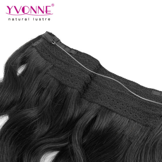 Brazilian Body Wave Flip Human Hair Extension pictures & photos
