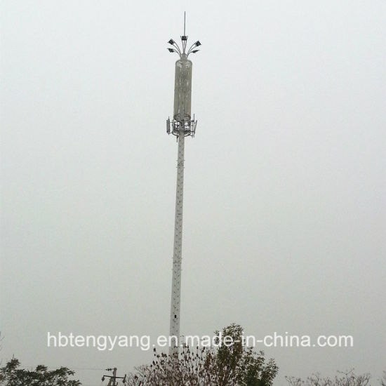 Single Pipe Microwave Antenna Tower for Telecommunication pictures & photos