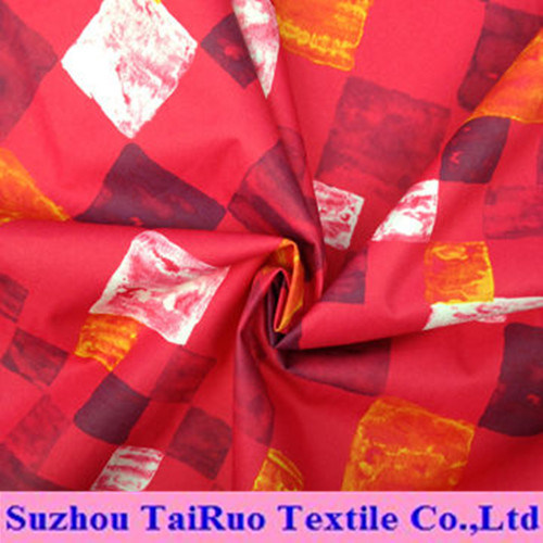 Polyester Printing Pongee Used for Women's Coats and Jacket