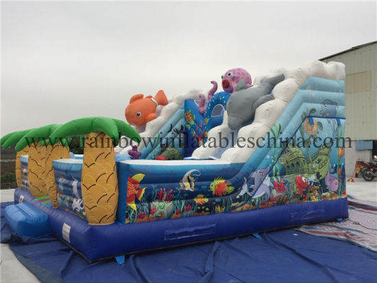 9X5X6m Hot Selling Amusement Park Water Slide Inflatable Slide for Sale pictures & photos