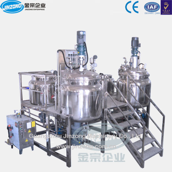 Jrka Series Vacuum Emulsifying Mixer with Water Phase and Oil Phase pictures & photos