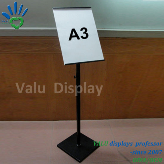 China A3 Poster Frame Sign Display Holders Metal Floor Standing