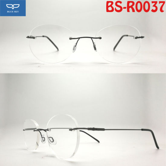 1d9529d6e6 Copper Stainless Steel Material Hot Selling New Design Rimless Reading  Glasses Frameless Spectacles with Super Slim Temple Cheap Price