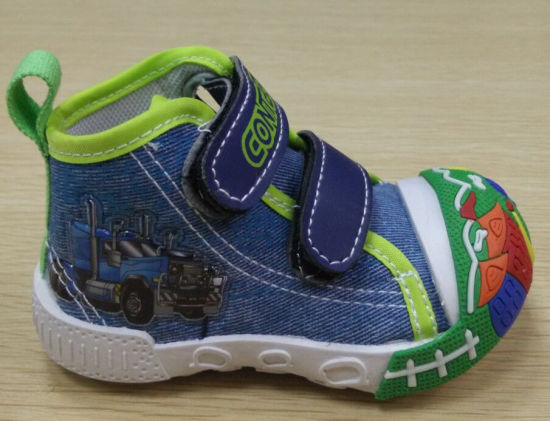 Latest Lovely Injection Shoes Baby Canvas Shoes Infant Shoes (FF516-1) pictures & photos