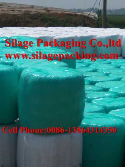 Black/Green/White Bale Wrap Film Width 250mm/500mm/750mm Length 1500m/1800m Thickness 25um pictures & photos