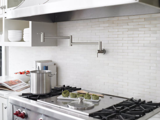 Stainless Steel Pot Filler Kitchen Cold Water Wall Mounted Faucet