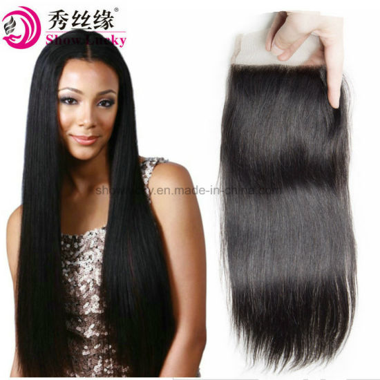 Brazilian Virgin Human Hair Straight Closure Top 4*4 Swiss Lace Closures Remy Hair Natural Hair Accessories