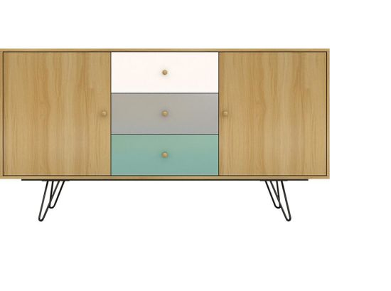 New Design Simple Style Sideboard Cabinet with Steel Legs Made in China pictures & photos