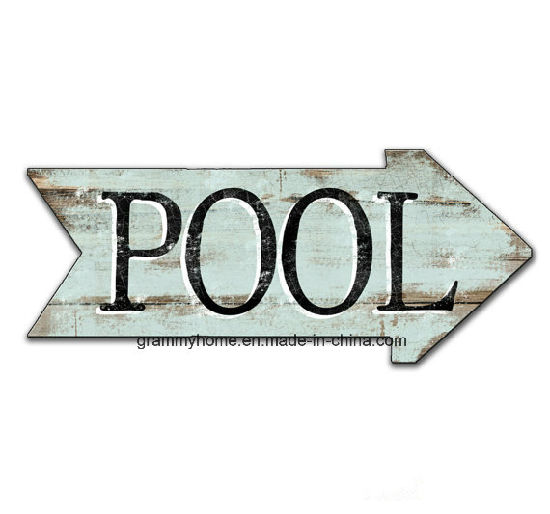 Vintage Pool Signs Summer Signs Summer Blue Arrow Wooden Signs