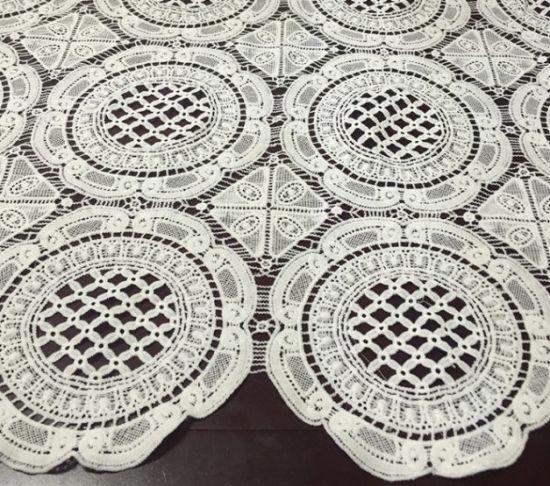 Weaving Micro Fiber Lace Textile for Women's Clothes