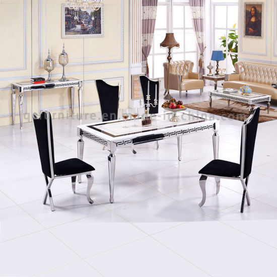 2016 latest Modern Model 8 Seater Dining Table Set pictures & photos