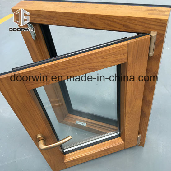 Aluminum Clad Oak Wood Tilt Turn Window pictures & photos