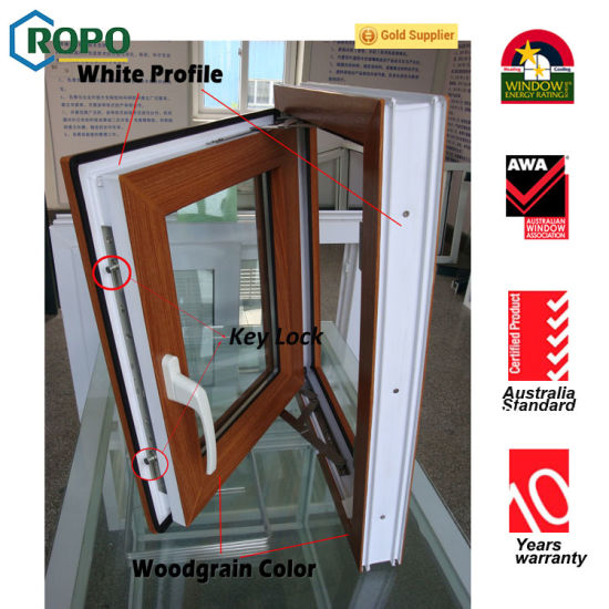 Double Glazing Glass Opening PVC Casement French Windows pictures & photos
