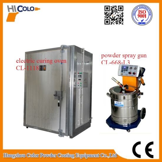 Electric Powder Coating Oven with Trolley Cl-1118 pictures & photos
