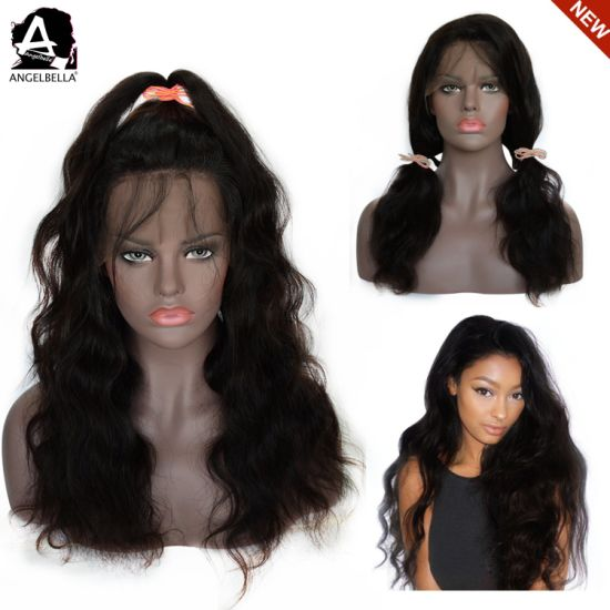 Angelbella Swiss Lace Front Wigs for Black Woman Body Wave 150% Density Wholesale Wig pictures & photos
