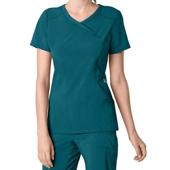 Short Sleeve Customized Medical Suit Uniform for Nurse