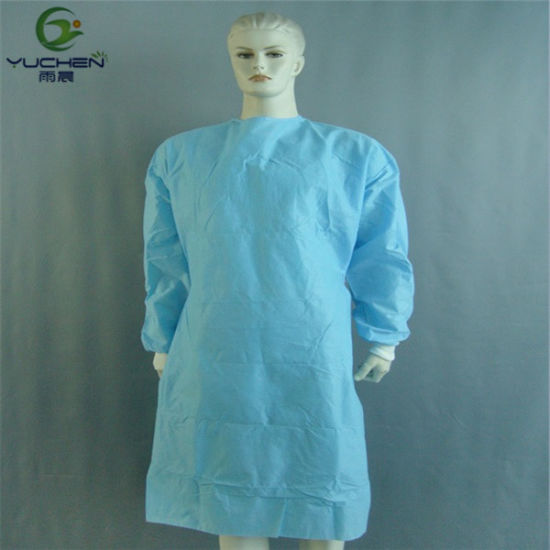 Disposable Hospital CPE Isolation Gown /Protection Gown
