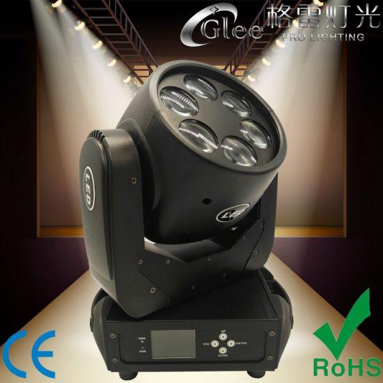 Professional 6X25W Super Beam Wash DJ LED Moving Head