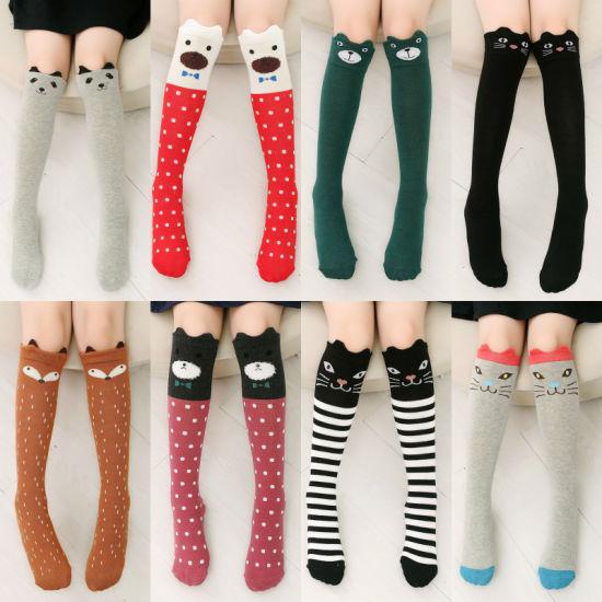 Cute Cartoon Kids Socks Bear Animal Baby Cotton Socks Knee High Long Leg Warmers Lovely Fox Socks Boy Girl Children Socks