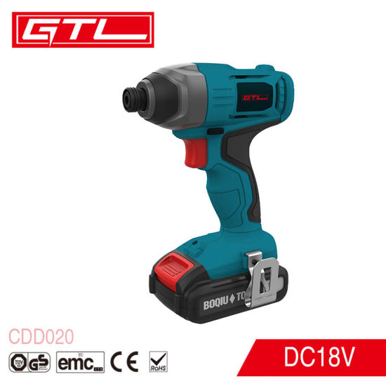 Professional 18V Lithium Cordless Impact Driver with LED Work Light