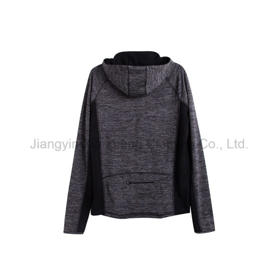 Men Breathable Hooded Polyester Single Jersey Sportswear pictures & photos