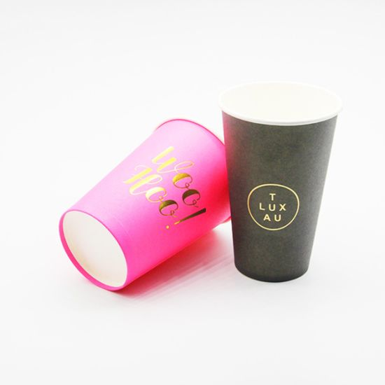 China Double Wall Paper Cup with Lid, Corrugated Coffee Cup