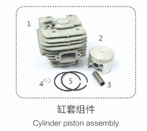 381cylinder Piston Assembly for Petrol Chainsaw Replacement Parts