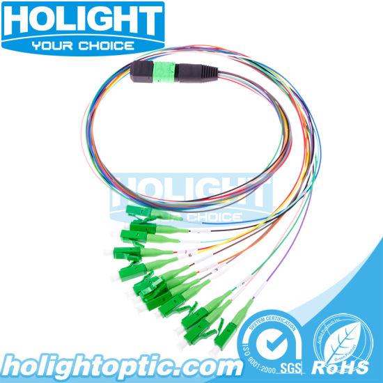 Optical Cable MPO to Lcapc 12 Cores Singlemode Fiber