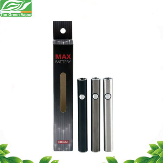 Hot Sale Adjustable Voltage E-Cigarette Battery Max Battery with 380mAh pictures & photos