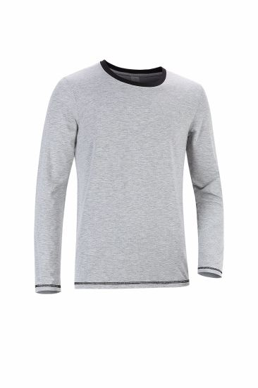 Men′s and Women′s Casual Long Sleeve T Shirt, Marl Effect, OEM Service pictures & photos