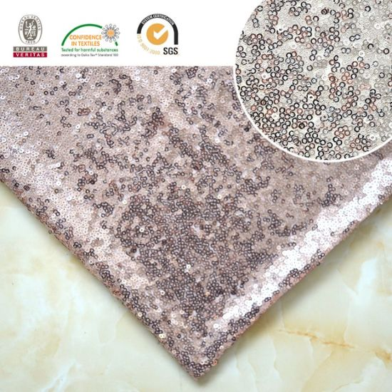 Sequin Fabric Embroidery New Fashion Hot Sale Polyester Fabric136