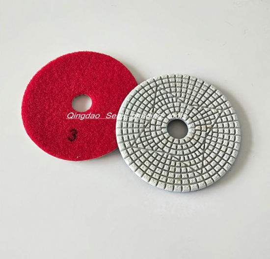 "3/"" Diamond Marble Polishing Pad Sponge Granite Grinding Concrete Floor Abrasive"