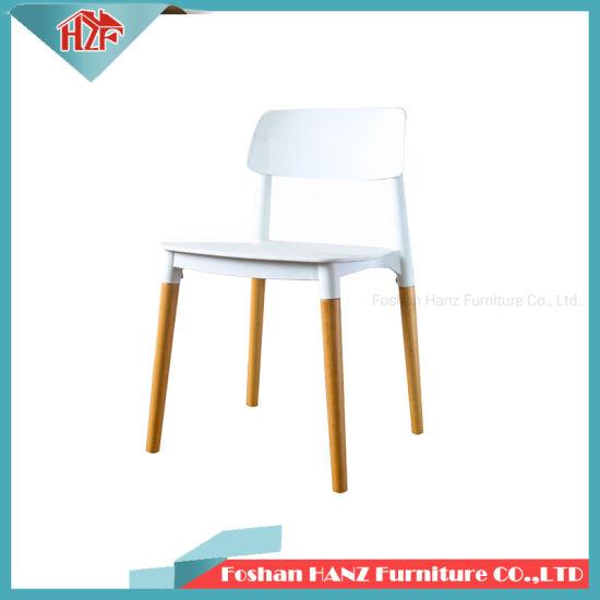 Superb China Hz 312Cafe Coffee Shop White Plastic Wooden Leg Dining Ibusinesslaw Wood Chair Design Ideas Ibusinesslaworg