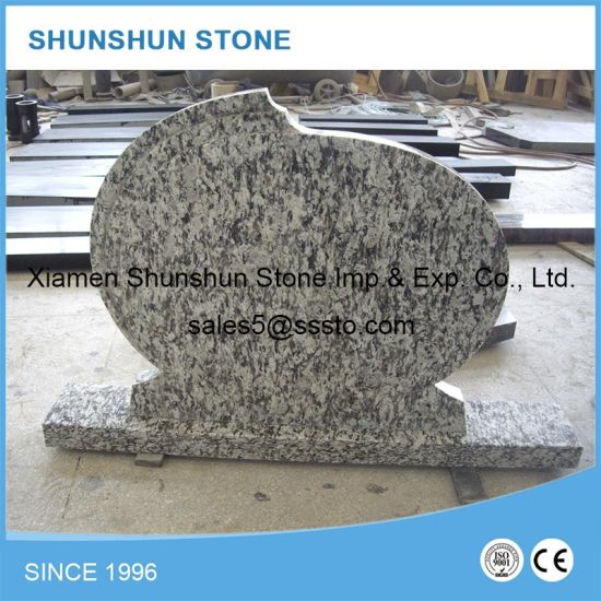 High Quality Hungarian Spray White Granite Headstones pictures & photos