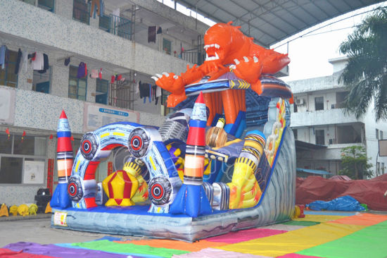 New Design PVC Cartoon Inflatable Bouncy Slide for Sale pictures & photos