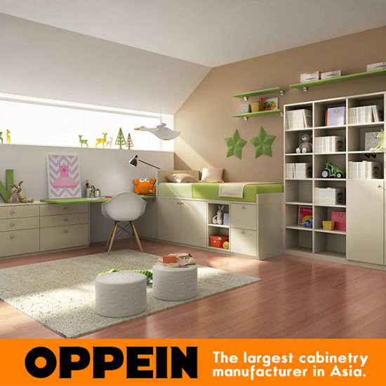 Oppein Eco-Friendly Customized Children Furniture Kids Bedroom Furniture Set (OP16-KID01) pictures & photos