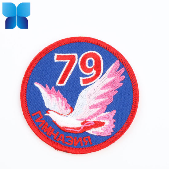Hot Sell Iron on/Sew on Fashion Custom Embroidered Patch for Clothing/Cap/Promotion